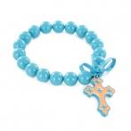 Bracelet Croix bleu