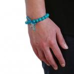 Croix bracelet blue Over