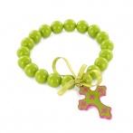Croix bracelet green