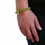 Bracelet Croix vert Over