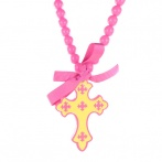 Croix necklace pink