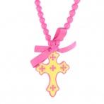 Croix necklace pink