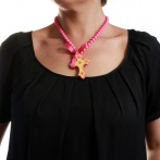 Croix necklace pink Over