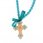 Croix necklace blue