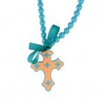 Croix necklace blue