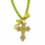 Croix necklace green