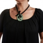 Nadia necklace light green Over