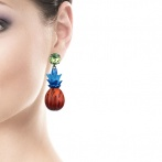 Boucles d'oreilles Drôles de Fruits Over