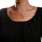 Collier Plume rouge multi Over
