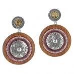 Boucles d'oreilles clips Arabesques