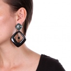 Boucles d'oreilles clips Black Tibet Over