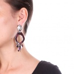 Boucles d'oreilles clips Night Bird Over