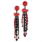 Boucles d'oreilles clips Rosso