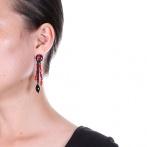 Boucles d'oreilles clips Rosso Over