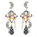 Boucles d'oreilles clips Pierrot