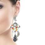 Boucles d'oreilles clips Pierrot Over