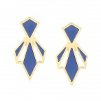 Boucles d'oreilles Palais Royal navy blue