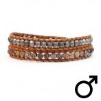 Bracelet Homme Wrap 1294 Jasper Mix