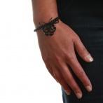 Bracelet Arabesque noir Over