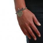 Arabesque bracelet dark grey Over