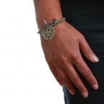 Bracelet Arabesque gris foncé Over