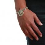 Bracelet Arabesque gris clair Over