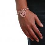 Bracelet Arabesque rose pâle Over
