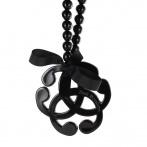 Arabesque necklace black