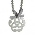 Arabesque necklace dark grey