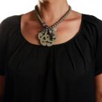 Arabesque necklace dark grey Over
