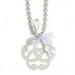 Arabesque necklace light grey