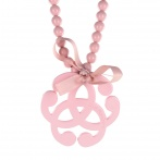 Arabesque necklace light pink