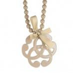 Arabesque necklace beige