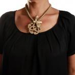 Arabesque necklace beige Over