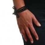 Bracelet Triple noir Over