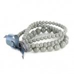 Bracelet Triple gris foncé
