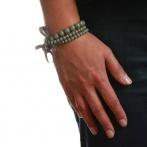 Bracelet Triple gris foncé Over