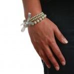 Bracelet Triple gris clair Over