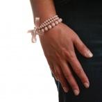 Bracelet Triple rose pâle Over