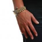 Triple bracelet beige Over