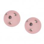 Boucles d'oreilles Cristal rose