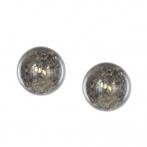 Paillette earrings dark gold