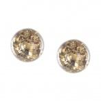 Paillette earrings gold