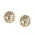 Paillette earrings light gold