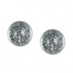 Paillette earrings dark silver