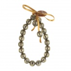 Paillette bracelet dark gold