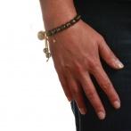 Paillette bracelet dark gold Over