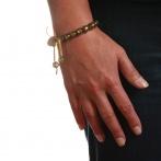 Paillette bracelet gold Over