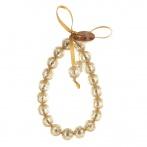 Paillette bracelet light gold