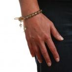 Paillette bracelet light gold Over
